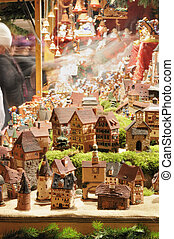 tiny houses at christmas market, esslingen - detail, at...