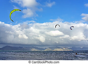 Kite surfing in Majorca