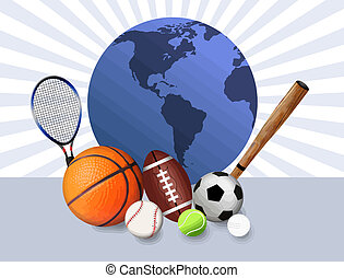 Sports balls - Sports concept background with sport balls...
