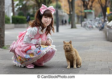 sweet japanese lolita - japanese girl in sweet lolita...