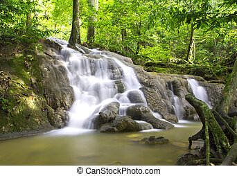 Waterfall in deep forest, South of Thailand