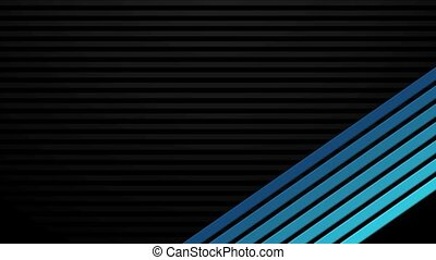Blue Bars on Black Transitions HD
