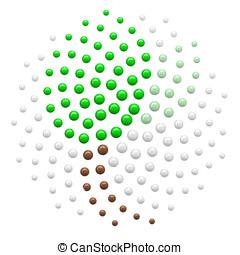 Green Leaf in fibonacci spiral pattern - Fibonacci spiral...