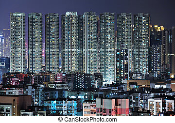 night view of Hong Kong