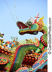Asian temple dragon