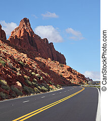 The marked road passes between rocks - The magnificent...