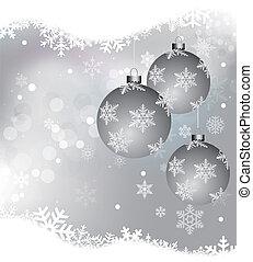 white Christmas background  - EPS 10