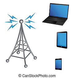 communication antenna and electric