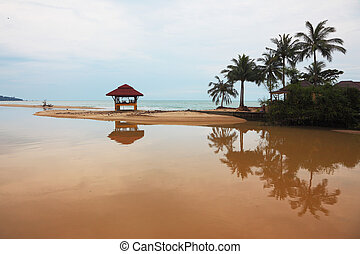 Swimwear wooden gazebo - Sandy beach on Koh Samui Swimwear...