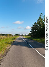 Empty rural road with a dividing line