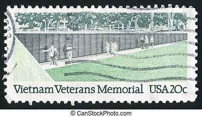 Memorial Wall - UNITED STATES - CIRCA 1984: stamp printed by...
