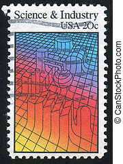 machinery - UNITED STATES - CIRCA 1983: stamp printed by...