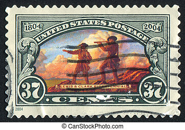 people - UNITED STATES - CIRCA 2004: stamp printed by United...