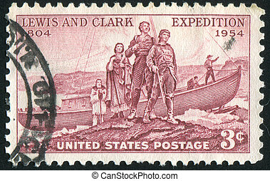 landing of Lewis and Clark expedition - UNITED STATES -...