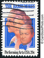 John, Ethel - UNITED STATES - CIRCA 1982: stamp printed by...