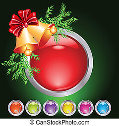 Christmas web button - Set of web buttons with christmas...
