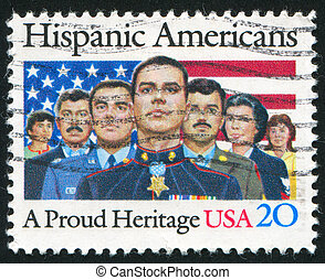 people - UNITED STATES - CIRCA 1984: stamp printed by United...
