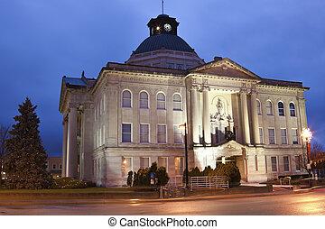 contea, storico, palazzo di giustizia,  boone