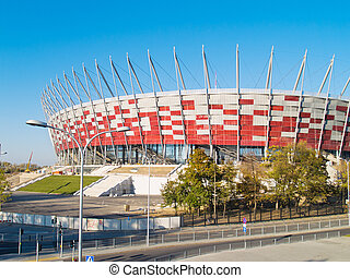 stadium of Warsaw, Poland - outdoors of euro 2012 stadium,...