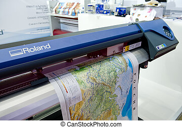 The map print - Map printin on the large format printer