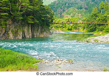 Japanese landscape - Beautiful landscape in the Japanese...