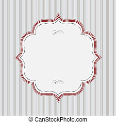 Vector Striped Background and Red Frame