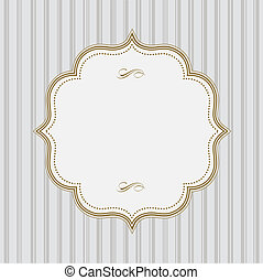Vector Lined Pattern and Gold Frame. Easy to edit. Perfect...