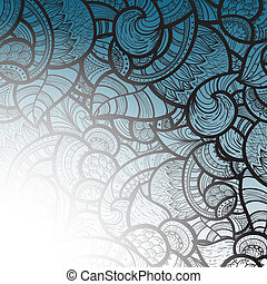 vector  ethnic doodle pattern with place for your text