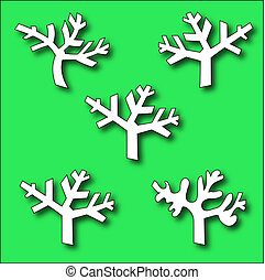 Collection of Branch trees silhouettes - Collection of...