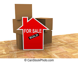 house for sale sold sign
