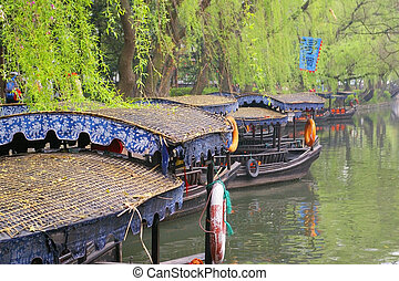 Nanxun water village town, it is one of the six most famous...