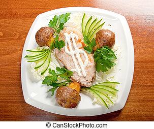 porks Roast.Italian cuisine