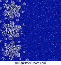 Snow Flake Background - Blue background with snowflakes