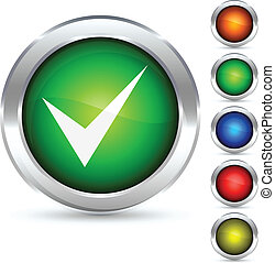Validation button. - Validation detailed button. Vector...