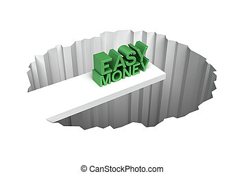 Easy money risk 3D concept