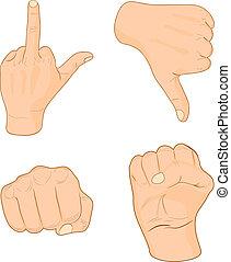 main, signes