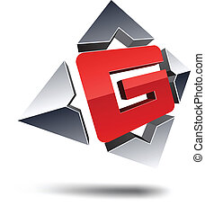 G 3d letter - Illustration of G 3d design element