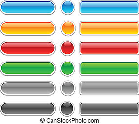Glossy buttons. - Beautiful shiny buttons. Vector...