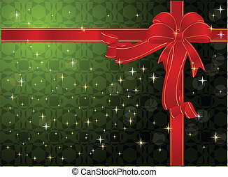 christmas background - Background with red bow