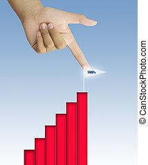 Business graph success chart data