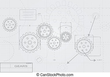 Blueprint Concept on White