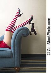 Fun and flirty legs - A photo of a young woman's shapely...