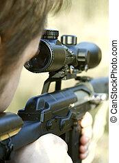 franco-atirador, apontar