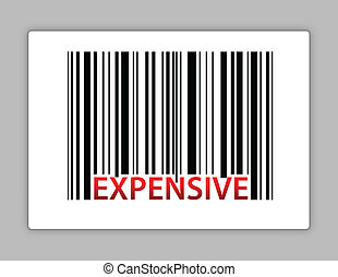 expensive barcode illustration design on a label