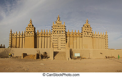 Djenne?, African City of Mud - The big mosque in Djenne? and...
