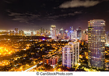 Night Skyline - Night shot of skyline of Makati, Philippines