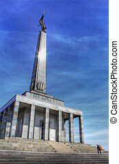 memorial monument for fallen soldiers of world war 2, hdr