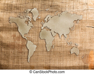 World old grunge canvas texture for background