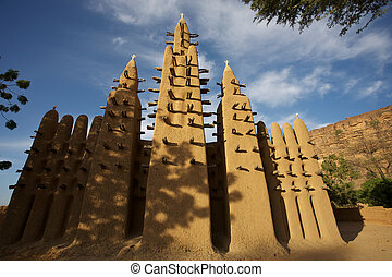 Sudan Architecture - Mosque in a village early in the...
