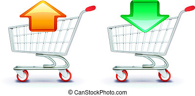 shopping carts - Vector icons set of shopping carts...